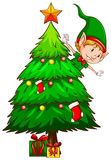 Ett färgat skissar av ett julträd Arkivfoton