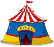 Ett färgrikt cirkustält Royaltyfria Foton