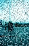 Brutet glass fönster Royaltyfri Foto