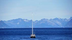 Ett fartyg för sailsman` s i Lofoten Royaltyfria Foton
