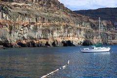 ett fartyg i en ärmlös tröja på ön av Gran Canaria arkivfoto