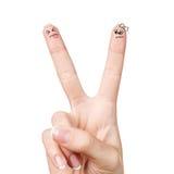 Ett finger retar andra Fotografering för Bildbyråer