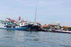 Ett fiskeläge i Kuta, Bali Fotografering för Bildbyråer