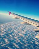Ett flyg till Paris royaltyfria bilder