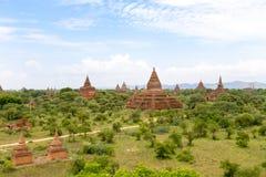 Ett forntida komplex för buddistisk tempel av Bagan i Myanmar Royaltyfria Bilder