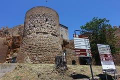 Ett forntida torn i Cerveteri Arkivbild