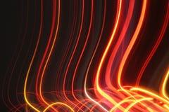 Ett foto av de bakre ljusen av några bilar på långsam slutarehastighet Arkivbilder