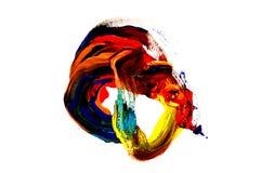 Ett foto av en abstrakt gouachemålning arkivfoton