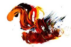Ett foto av en abstrakt gouachemålning arkivbilder