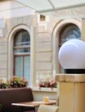 Ett foto av runda lampor Royaltyfri Fotografi