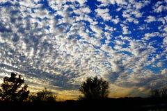 Ett fotografi av den aftonTexas himlen arkivfoto