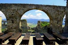 Ett fotografi av en sikt från slott Arkivbilder