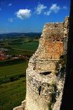 Ett fotografi av en slott Arkivfoto