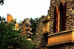 Ett fotografi av en slott Arkivfoton