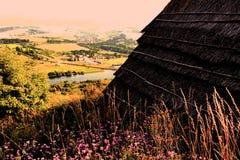 Ett fotografi av ett tak Fotografering för Bildbyråer