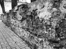 Ett fragment av de gamla väggarna Arkivfoton