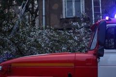 Ett fragment av en brandlastbil Royaltyfria Foton