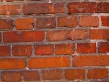 Ett fragment av en gammal tegelstenvägg royaltyfri foto