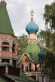 Ett fragment av kyrkan av Treenighet i Natashine Lyubertsy Ryssland Arkivfoto