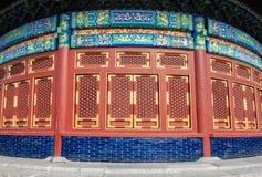Ett fragment av väggen av tempelet av himmel Fotografering för Bildbyråer