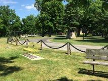 Ett fridsamt parkerar nära sjön av Goderich Ontario Kanada royaltyfri foto