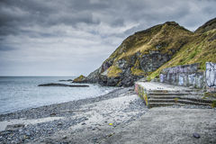Ett gamla Pebble Beach i Irland Arkivbilder
