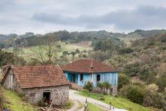 Ett gammalt övergett stenhus på Rio Grande do Sul - Brasilien Royaltyfri Fotografi