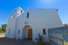 Ett gammalt Adobe beskickningskott, Scottsdale, Arizona Fotografering för Bildbyråer