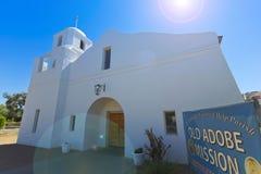 Ett gammalt Adobe beskickningskott, Scottsdale, Arizona Royaltyfri Fotografi