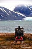 Ett gammalt drev på ön royaltyfri foto
