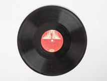 Ett gammalt grammofonrekord utan produktion för räkningsNoginsk växt Arkivbild