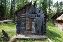 Ett gammalt litet hus Royaltyfria Foton