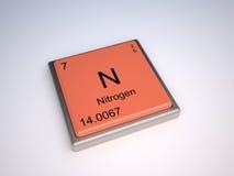 Ett gasformigt grundämne Arkivfoto