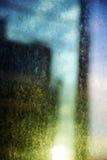 Eftermiddagen smutsar ner fönstret Arkivfoto