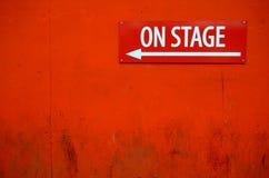 Teatern undertecknar Royaltyfria Foton