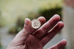 Ett guld- brittiskt pund Royaltyfria Bilder