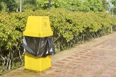 Ett gult fack. Royaltyfria Bilder