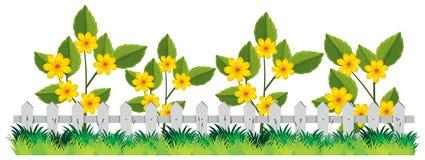 Ett härligt blommastaket vektor illustrationer