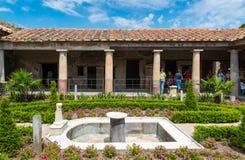 Ett härligt forntida hus i Pompeii, Italien Fotografering för Bildbyråer