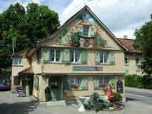 Ett häxahus i Kreuzlingen royaltyfria foton