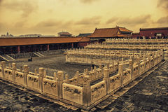 Ett hörn av det imperialistiska huset, Peking, Kina Arkivfoto