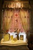 Ett hörn av sovrummet Royaltyfri Bild