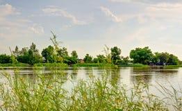 Ett hörn Vam Co Dong River Tay Ninh Vietnam Arkivfoton