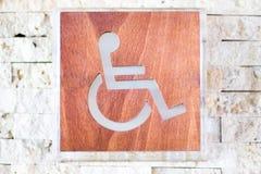 Ett handikappat tecken. Grund DOF Arkivbilder