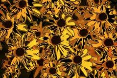 Ett hav av guling för ‹för †blommar royaltyfri illustrationer