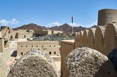 Ett historiskt fort i Oman Royaltyfria Foton