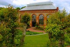 Ett historiskt växthus Arkivfoton