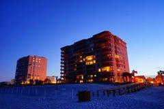 Ett hotell för havsikt Arkivfoto