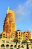 Ett hotell på brand på Januari 1st, 2016 Arkivbild
