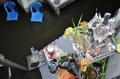 Ett hus översvämmas i Bangkok på 05. November 2011 Royaltyfri Fotografi